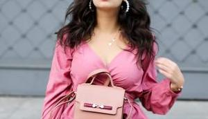 Date Look Pink Wrap Blouse