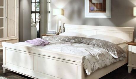Schick Schlafzimmer Landhaus Weiß Design
