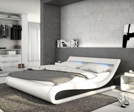 Neueste Schlafzimmer Braun Weiß Design