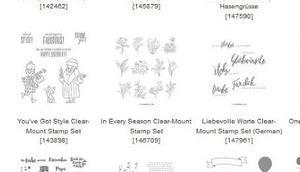 Stampin Aktion Dienstag, 23.Oktober Sammelbestellung