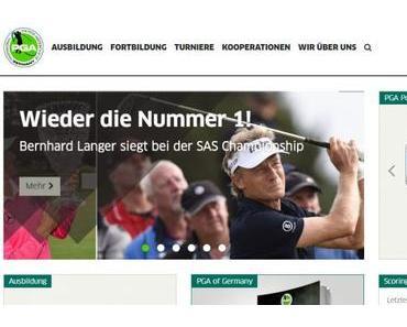 PGA mit neuem Internet-Auftritt