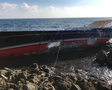 Russische Superyacht auf Palmas Mole geborgen