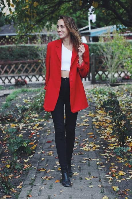 Blogtober Tag 29: How to Style - Roter Blazer kombinieren