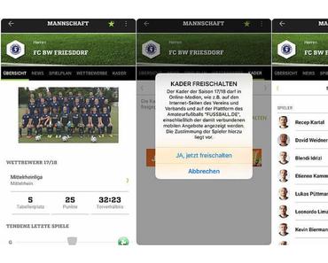 """Die App von """"Fussball.de"""" für Fans des Amateurfußballs besonders gut"""