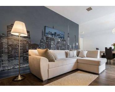 Graziös Graue Wandfarbe Wohnzimmer  Design