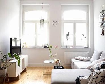 Fesselnd Graue Wand Wohnzimmer  Ideen
