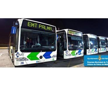 """Die EMT-Busse der Linie 3 von Palma fahren bis """"Pla de Na Tesa"""""""