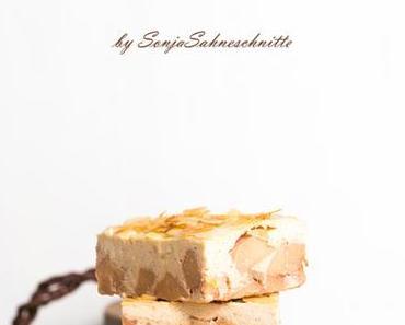 Rezept für saftigen schnellen Quittenkuchen mit Quark vom Blech-recipe for quince cheesecake with almonds