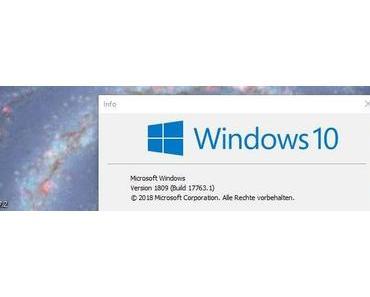 Herbstupdate Windows 10 1809 wieder freigegeben