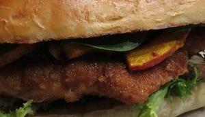 Herbstlicher Chicken-Burger