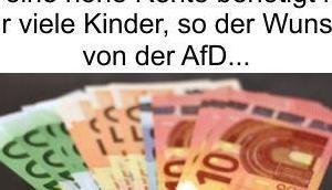Deutschland Wohlfahrtstaat alle nicht arbeiten will Rente nach Anzahl gezeugten Kinder berechnen