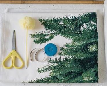 DIY Wand-Weihnachtsbaum aus Stoff – Ikea-Hack