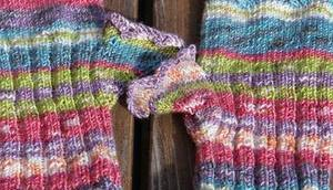Fingerlose bunte Handschuhe