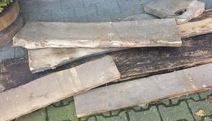 Esstisch alten Holzbohlen selber bauen