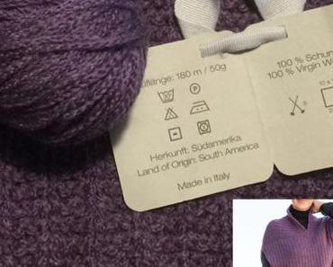 Lilamalerie strickt mal lila – oder – Pullunder in the making