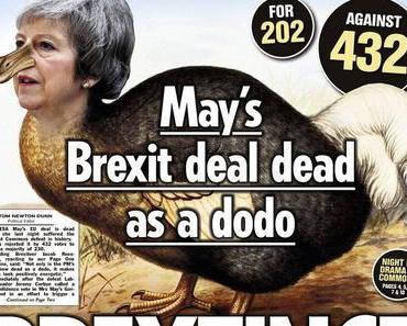Theresa May und die größte Niederlage der Geschichte