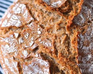 Brotiebe - einfaches Dinkel-Roggenbrot mit Couscous