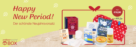 Happy New Period Box mit Biotampon Probe Styx Naturkosmetik etc.