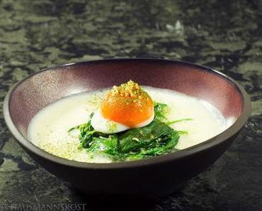 Vorspeise vegetarisch: Rahmspinat mit Ei