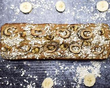 saftiges Hafer-Bananenbrot