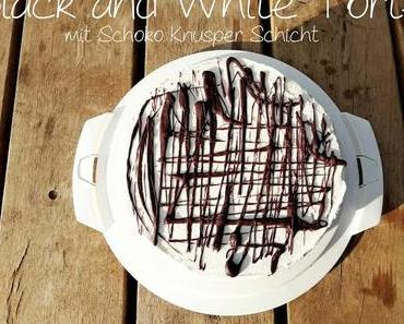 Black and White Torte mit Schoko-Knusper-Schicht