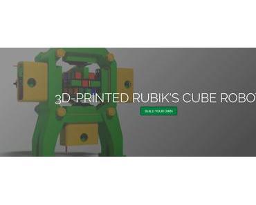 Roboter RCR3D aus dem 3D-Drucker löst den Zauberwürfel