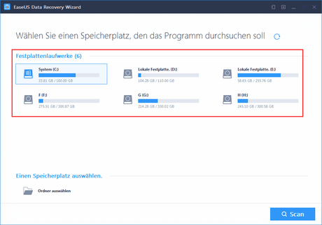 Mobile Datenrettung mit dem EaseUS Data Recovery Wizard