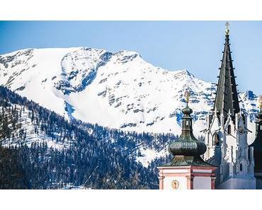 Fotos aus Mariazell bei Sonnenschein und Frühlingsschnee