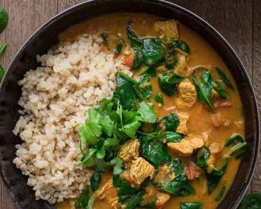 Puten-Curry mit Garam Masala und Kokos
