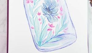 Heute letzte Flora Woche unserer Challenge #buntundgluecklich gehostet @aquarellelia @_sanz_art_ @wolkenmalerin_ @diyundso habe gedacht können Blumen heute hinter Glas morgen gibt's neues Thema