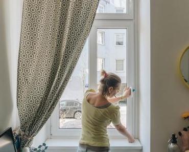 DIY Wohnzimmer: DIY Mini-Fenster-Vorhänge als Sichtschutz