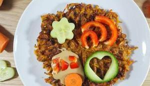 Süßkartoffel-Gemüse-Waffeln