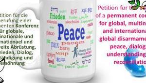 Presse-Mitteilung: Öffentliche Petition globale Abrüstung Frieden Deutscher Bundestag