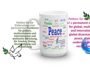 Presse-Mitteilung: Öffentliche Petition für globale Abrüstung und für Frieden an Deutscher Bundestag
