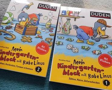Vorschule mit Spaß: die neuen Duden Kindergartenblöcke mit Rabe Linus