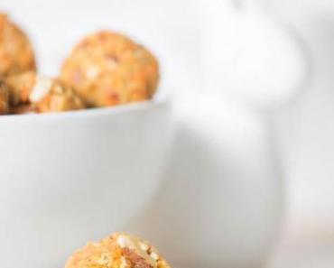 Rezept für einfache, vegane und gesunde  Karotten-Kekse zu Ostern oder Energy-Bals
