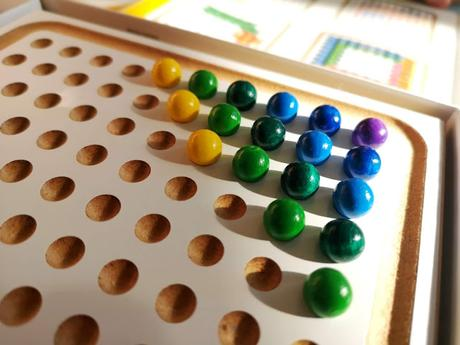 Objekte nach 1945 SINA Minikugelspiel Kindergarten Kugelspiel Holzkugeln Kreativ Muster NEU Holz Antiquitäten & Kunst