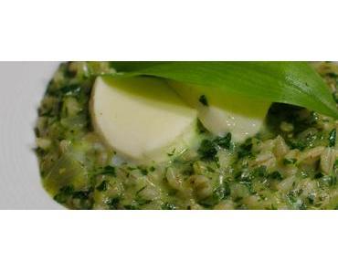 Karfreitagsfisch im Restaurant Adler, Neuenburg und ein Rezept für Bärlauch-Gerstotto mit Burrata