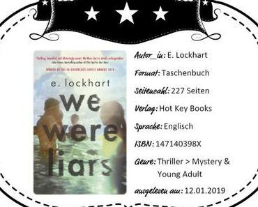E. Lockhart – We Were Liars