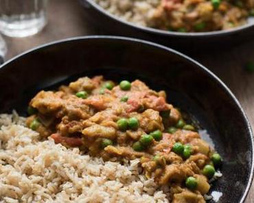 Indisches Auberginen Curry