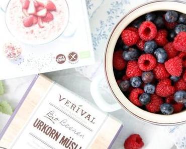 POWER FRÜHSTÜCK MIT VERIVAL! Saftige Porridge-Beeren-Schnitten für einen kraftvollen & köstlichen Start in den Tag