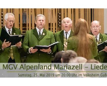 Termintipp: MGV Alpenland Mariazell Liederabend