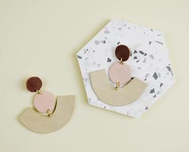 Statement-Ohrringe aus Lederresten selber machen