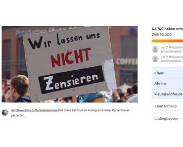Petition gegen Annegret Kramp-Karrenbauer