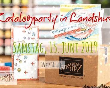 Einladung zur Katalogparty in Landshut