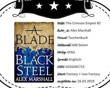 Alex Marshall – A Blade of Black Steel