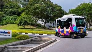 Autonomes Shuttle startet National University Singapore
