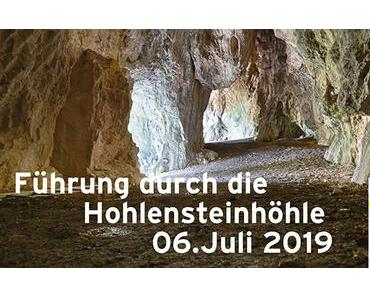 Termintipp: Hohlensteinhöhle Führung am 6. Juli 2019