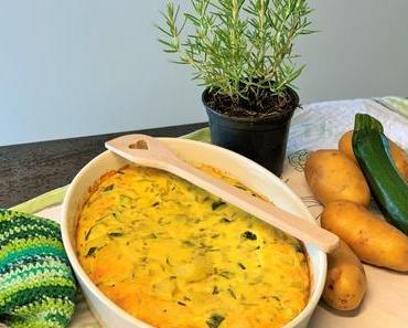 Saisonal kochen im Juni: Frittata mit Zucchini, Kartoffeln und Rosmarin