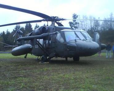 Notlandung in Erbendorf – ein Black Hawk
